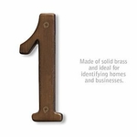 6 Inch Solid Brass Number Antique Finish 1