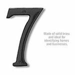 6 Inch Solid Brass Number Black Finish 7