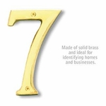 6 Inch Solid Brass Number Brass Finish 7