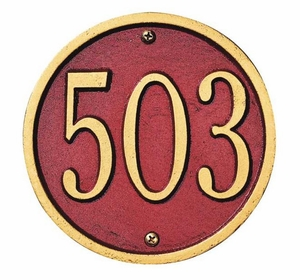 "Whitehall 6"" ROUND Wall Plaque - (1 Line)"