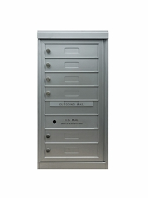 6 Single Height Tenant Doors Front Loading ADA54-S6 USPS Approved 4C Horizontal Mailboxes