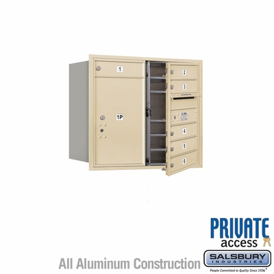 Salsbury 3707D-06SFP 4C Mailboxes 6 Tenant Doors Front Loading