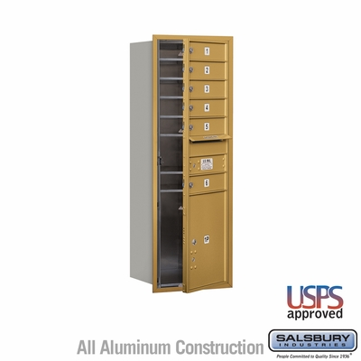 Salsbury 3713S-06GFU 4C Mailboxes 6 Tenant Doors Front Loading