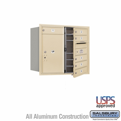 Salsbury 3707D-06SFU 4C Mailboxes 6 Tenant Doors Front Loading