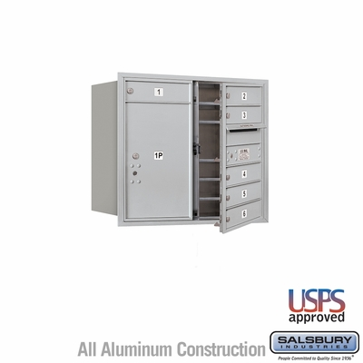 Salsbury 3707D-06AFU 4C Mailboxes 6 Tenant Doors Front Loading