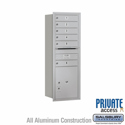 Salsbury 3713S-06ARP 4C Mailboxes 6 Tenant Doors Rear Loading