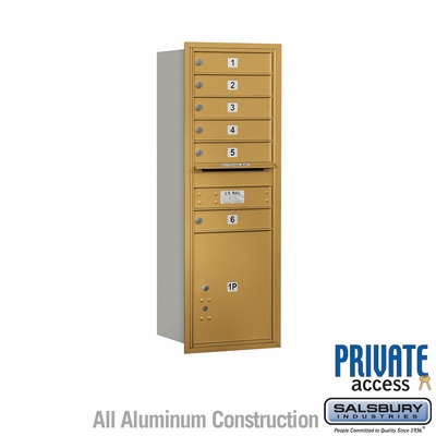 Salsbury 3713S-06GRP 4C Mailboxes 6 Tenant Doors Rear Loading