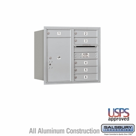 Rear Loading Horizontal Mailboxes 5 to 6 Doors