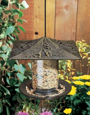 "Whitehall 6"" Trumpet Vine Tube Feeder - French Bronze"