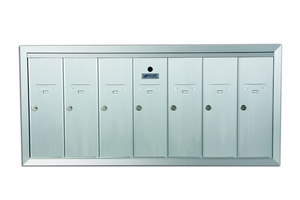 7 Door Recessed Vertical Mailboxes