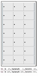 1700 Series 4B+ Horizontal Mailboxes