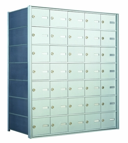 7 Doors High x 5 Doors (35 Tenants) 1500 Horizontal Mailbox Rear-Load
