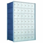 7 Doors High x 6 Doors (42 Tenants) 1700 Horizontal Mailbox Rear-Load Private Distribution