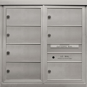 Anodized Finish 4C Mailboxes - 5 to 7 Tenant Doors