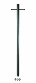 7 Foot Smooth Aluminum Direct Burial Post with Ladder Rest and Photo Control