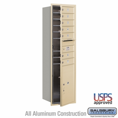 Salsbury 3715S-07SFU 4C Mailboxes 7 Tenant Doors Front Loading