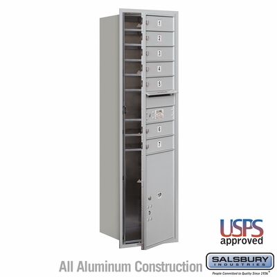 Salsbury 3715S-07AFU 4C Mailboxes 7 Tenant Doors Front Loading