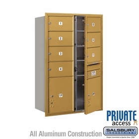 Salsbury 3713D-07GFP 4C Mailboxes 7 Tenant Doors Front Loading