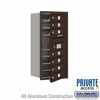 Salsbury 3709S-07ZFP 4C Mailboxes 7 Tenant Doors Front Loading