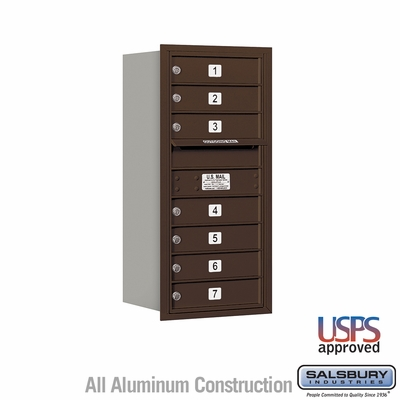 Salsbury 3709S-07ZRU 4C Mailboxes 7 Tenant Doors Rear Loading