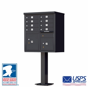8 Door CBU Mailbox - Black