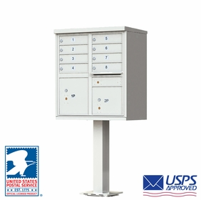 8 Door CBU Mailbox - Gray