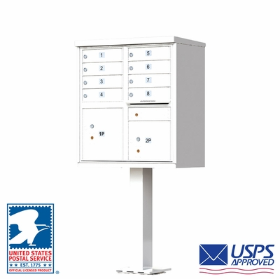 8 Door CBU Mailbox - White