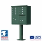 CBU - 8 Tenant Boxes Cluster Mailbox In Forest Green