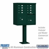 Salsbury 3308GRN-P 8 Door Cluster Mailbox Green - Private Access