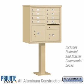 8 Door Cluster Mailboxes for Private Delivery