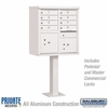 Salsbury 3308WHT-P 8 Door Cluster Mailbox White - Private Access