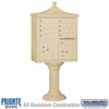 Salsbury 3308R-SAN-P 8 Door Regency Decorative Cluster Mailbox Sandstone - Private Access