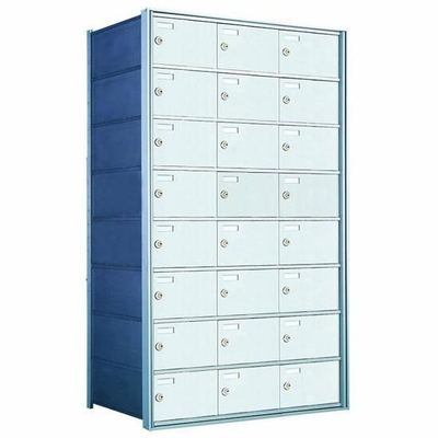 8 Doors High x 3 Doors (24 Tenants) 1700 Horizontal Mailbox Rear-Load Private Distribution