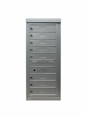8 Single Height Tenant Doors Front Loading Flex-S8 USPS Approved 4C Horizontal Mailboxes
