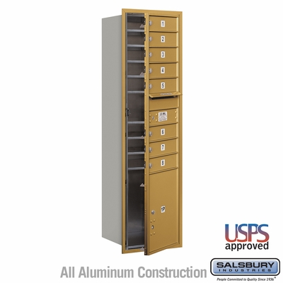Salsbury 3715S-08GFU 4C Mailboxes 8 Tenant Doors Front Loading