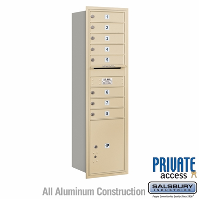 Salsbury 3715S-08SRP 4C Mailboxes 8 Tenant Doors Rear Loading