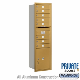 Salsbury 3715S-08GRP 4C Mailboxes 8 Tenant Doors Rear Loading