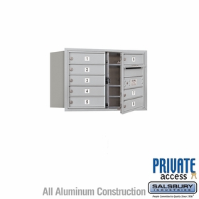Salsbury 3705D-08AFP 4C Mailboxes 8 Tenant Doors Front Loading