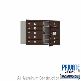 Salsbury 3705D-08ZFP 4C Mailboxes 8 Tenant Doors Front Loading