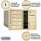8 Tenant Doors Front Loading 4C Horizontal Mailboxes - Private Access - Sandstone