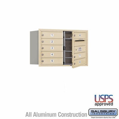 Salsbury 3705D-08SFU 4C Mailboxes 8 Tenant Doors Front Loading