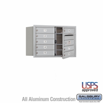 Salsbury 3705D-08AFU 4C Mailboxes 8 Tenant Doors Front Loading
