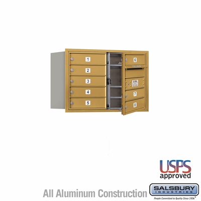 Salsbury 3705D-08GFU 4C Mailboxes 8 Tenant Doors Front Loading