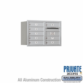 Salsbury 3705D-08ARP 4C Mailboxes 8 Tenant Doors Rear Loading