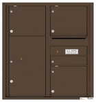 9 Doors High 4C Mailboxes Rear Loading
