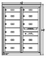 9 Double Height and 2 Single Height Tenant Doors Two Column Front Loading Max-D2D9 USPS Approved 4C Horizontal Mailboxes