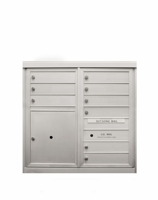 9 Single Height Tenant Doors 1 Parcel Locker Front Loading ADA54-D9P1 USPS Approved 4C Horizontal Mailboxes