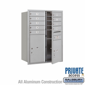 Salsbury 3711D-09AFP 4C Mailboxes 9 Tenant Doors Front Loading