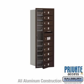 9 Tenant Door 4C Mailbox - Bronze - Front Loading - Private Access - Single Column