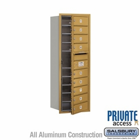 Salsbury 3711S-09GFP 4C Mailboxes 9 Tenant Doors Front Loading
